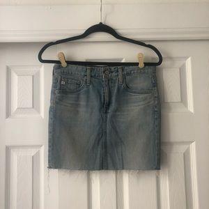 AG Adriano Goldschmied The Sandy Denim Mini Skirt